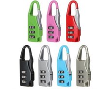 Wholesale 10pcs Travel Suitcase Luggage Colorful Digit Combination Resettable Code Lock Padlock Hot Sale