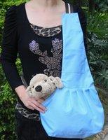Wholesale Dark Blue white Strip Sling Pet Cat Dog Carrier Tote Single Shoulder Bag Carriers