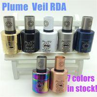 Wholesale Plume Veil RDA RBA Clone rebuildable Atomizer V1 V2 ss black red copper white blue Plumeveil Atomizer for Mod clone ego cigarettes