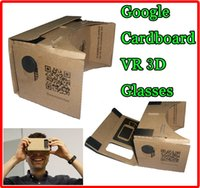 Wholesale Google Cardboard Virtual Reality VR Mobile Phone DIY D Viewing Glasses for inch below the smartphone Samsung Google Android