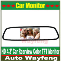 Wholesale High resolution quot Color TFT LCD Car Rearview Mirror Monitor inch screen DC V car Monitor for DVD Camera VCR M35735