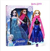 real doll - Frozen latest styles Frozen Adventures real lashes six movable joints doll toy set