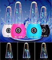 Cheap Dancing Water Speaker fountain speaker Active Portable Mini USB LED Light Speaker For smart phone ipad PC MP3