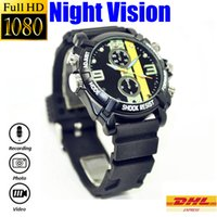 automatic hidden video recorder - 1080P Wrist Watch Hidden Camera G G Automatic Night Vision LED Light Watch Video Recorder PC Camera Watch Hidden Camera DVR HS