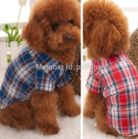 assorted clothing designs - simple design dog plaid shirt pet shirt pet dog shirt pet summer clothes Assorted size and colors supply