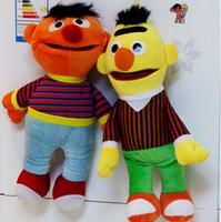 bert and ernie - 2pcs Cartoon Plush Toys Sesame Street Ernie And Bert Creative Doll Stuffed Toy Super Quality