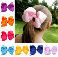 Wholesale 5 Inch Girl headwear hairclip Baby Clips Baby Alligator Clips Baby girls bow hair clip hairpins girl hair accessories