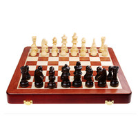chess - High quality solid wood standard international folding portable chess sets with chess pieces