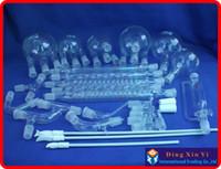 Wholesale Boro Glass chemistry Laboratory glassware kit vacuum distillation unit flask condenser pipe PTFE Stirrer and so on