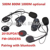 Wholesale 2015Updated version FM TCOM VB Headset Helmet Intercom x BT Interphone M FT Bluetooth Motorcycle riders Intercom