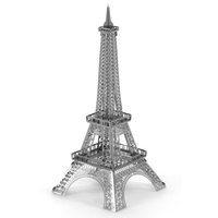 Wholesale The Eiffel Tower d model of miniature DIY metal nanometer metal three dimensional jigsaw puzzle silver