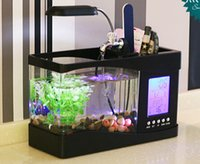 Wholesale Mini USB LCD Desktop Lamp Light Fish Tank Aquarium LED Clock with Innovative Design Multi functions Reliable Quality