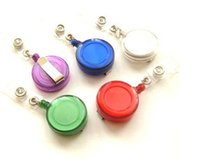 Wholesale 1Pcs Retractable Ski Pass ID Card Badge Holder Key Chain Ring Reels Keyring With Clip