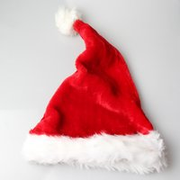 Wholesale 20PC Christmas Day Party Chothes Accessories Soft Nap Christmas hat Children Men Adult Red Color hat Merry Christmas Happy Day