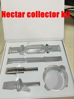 Wholesale NEW Nectar Collector kit honey straw Glass pipe water pipes bong titanium quartz mm mm mm joint Oil Rigs rig ash Dabs hookahs vapor