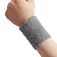 sweatbands - Wrist Support Wristband Unisex Cotton Sweat Band Sweatband Wristband Arm Band Basketball Tennis Gym Yoga Towel Color Sports Sweatband Zipper