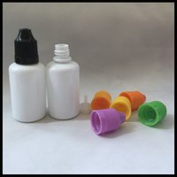 pet milk bottle - 30ml Milk White Dropper Bottle For Ecig Eliquid With Child Proof Cap Plastic PET Empty Ejuice Bottle E