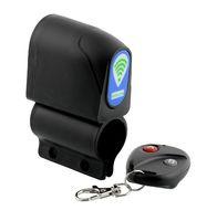 alarm lock cable - bike lock Bike Security Wireless Remote Control Vibration Alarm Anti theft Black Useful