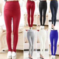 leggings pregnant - New Pregnant Women Maternity Leggings Over Bump Full Ankle Length Skinny Trousers Maternity Pants Legging Colors