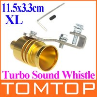 Wholesale 2014 New Universal Car Vehicle Turbo Sound Whistle Exhaust Pipe Tailpipe Fake BOV Blow off Valve Size XL cm Golden order lt no track