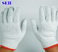 cotton working glove - 30pcs nylon white yarn gloves cotton gloves wear resistant protective working gloves