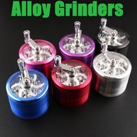 alloy grinder - Metal Grinders mm mm Grinders Piece Zinc Alloy Grinders Tobacco Herb Grinder Herb Smoking Spice Crusher With Handle