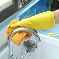 Wholesale New Arrivals Kitchen Dishwashing Gloves Cleaning Laundry Supplies Tools Waterproof Latex Size CM JA84