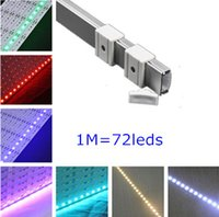 Cheap DHL Fedex 20sets lot SMD5630 DC12V 1m 72leds 18w led rigid bar bulb light+U shape aluminum slot with cover for kitchen cabinet
