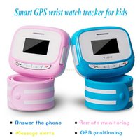 Wholesale Mini Tracker GSM GPRS GPS Watch Tracker for Child Mobile Phone Kid SOS Remote Control Bidirectional Call Kids Children Safe Time Display