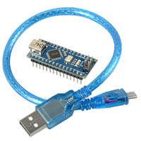 Wholesale New Hot Arduino compatible Nano V3 ATmega328 Mini USB Microcontroller Board Cable T1248 W0 SYSR