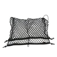 Wholesale 100 cm Car Cargo Net Trunk Interior Mesh Net Storage Bag Car Tidying Luggage Holder with Hooks