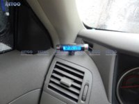 automotive timing light - Sport Car Blue Light LCD Portable Automotive Time Clock Thermometer Sensor Two in one LCD Display Clip M50964