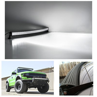 Wholesale 41 quot W Double Row Curved LED Drving Light Work Lamp Bar Flood Spot Combo Beam Off road High Power for Car SUV Truck Boating order lt no