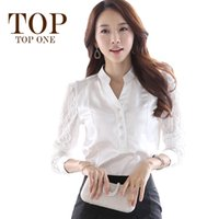 silk blouses for women - Formal White Blouses For Women Autumn New Fashion Elegant Long Sleeve Bodysuit Women Lace Blouses Women Office Silk Shirts
