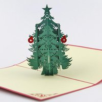cedar - Qubiclife big cedar tree Christmas three dimensional greeting cards handmade cards creative outlet D Handmade Card D Pop UP Gift Gree