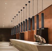 Wholesale Creative LED tube shape pendant light W W Modern spot Lighting for Restaurant Bars Dinning Room Customized in All Sizes