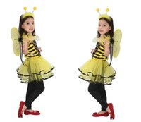 bee toddler costume - Honey Bee Girls Kids Toddler Infant Halloween Fancy Dress Up Performance Clothes Halloween Party Supplies New Year Showtime