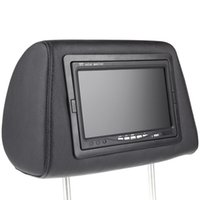 Wholesale car dvd Universal quot HD TFT Car Headrest DVD Player Headrest Monitor Built in Screen AV IN Remote Controller