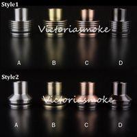 Wholesale Newest Wide Bore drip tip chuff enuff tips SS Copper Black Brass Drip Tips Vapetasia Ultra Drip Tips E Cigarette For Orchid V3 Kayfun RBA