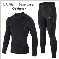 under-armour - Mens Coldgear Compression Base Layer Warm Suit Armour Regular Fit Pro Compression Fleece Warm Thermal Long Sleeve Top Under UA Tight