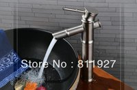 bamboo vessel sink faucet - years guarantee good brush nickle tall wash face countertop vessel sinks bamboo basin faucet tap mixer cozinha monocomando