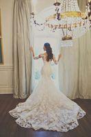 3 4 sleeve plus size wedding dresses - W1 Vintage Mermaid Cathedral Train Long Sleeves Lace Wedding Dresses Hot Modest Long Elegant Bridal Gowns Plus Size Custom Made