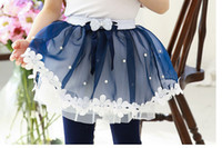 Wholesale New girl summer lace skirt small flower princess veil dress