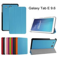 Wholesale Ultra Slim Magnetic Custer Fold Fodling Folio Stand Leather Case cover For Samsung Galaxy Tab E T560 PC