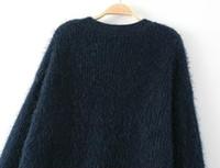 american fashion week - 15 fashion week Gao Yuanyuan with winter sweater loose coat long cardigan sweater dress in mohair