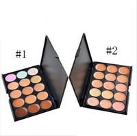 Wholesale 15 Colors Concealer Foundation Contour Face Cream Makeup Palette Pro Tool Camouflage Professional Facial Kits for Salon Party