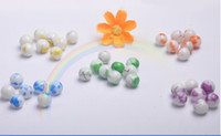 Wholesale blend color MM MM MM circular brushed glass paint ball loose beads DIY Beads Jewelry Accessories