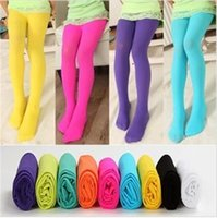 authentic kids brand - Kids Leggings D Children Render Pants Authentic Summer Candy Color Children s Pure Color Silk Stockings Candy Colorfull Kids Mixed Colors
