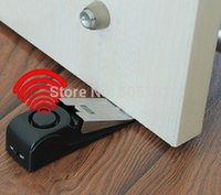 home system - 1pc dB stop system Security Home Wedge Shaped Door Stop Stopper Alarm Block Blocking Systerm