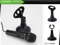 Wholesale Desktop Little Mic Microphone Stand Holder Bracket Black Placstic Detachable Portable Durable Design CM